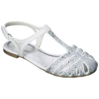 Girls Cherokee Fara Sandals   White 6