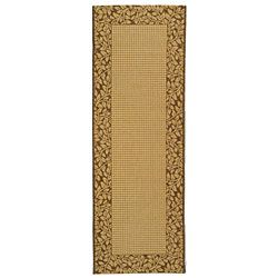 Indoor/ Outdoor Natural/ Brown Rug (24 X 67)