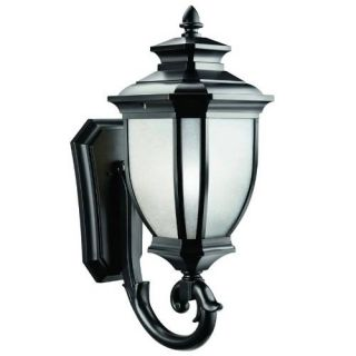 Kichler 9043BK Outdoor Light, Transitional Wall Mount 1 Light Fixture Black (Painted)