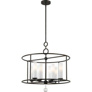 Crystorama Lighting CRY 9266 EB Cameron Cameron 8 Light Wrought Iron Chandelier