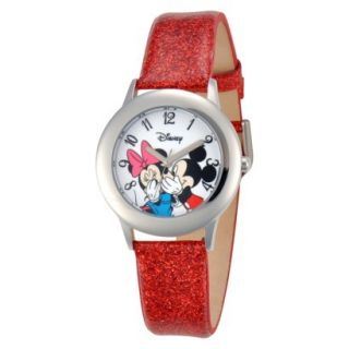 Disney Mickey/Minnie Wristwatch   Red
