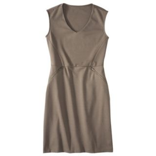 Mossimo Womens Ponte Sleeveless Dress w/ Zippered Pockets   Timber M