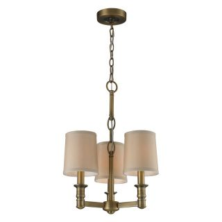 ELK Lighting Baxter 31265/3 Chandelier   Brushed Antique Brass   13W in.