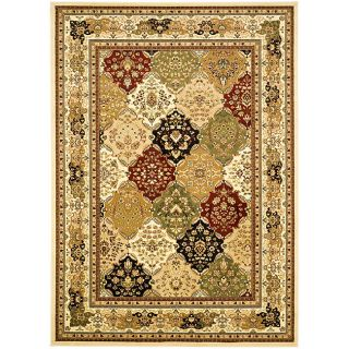 Lyndhurst Collection Multicolor/ Ivory Rug (6 X 9)