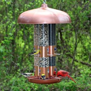 Perky Pet Copper Triple Tube Wild Bird Feeder
