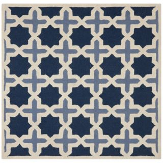 Safavieh Cambridge Light Blue/Ivory Rug CAM127A Rug Size Square 6 x 6