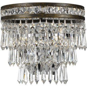 Crystorama Lighting CRY 5261 EB CL MWP Mercer Mercer 2 Light Hand Cut Crystal Br