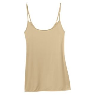 JKY By Jockey Womens Nylon Stretch Cami   Toasted Beige XL