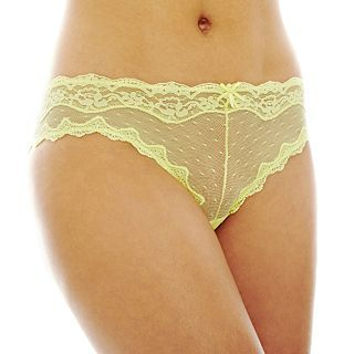 THE BODY Elle Macpherson Intimates Dot Mesh Cheeky Panties, Charlock
