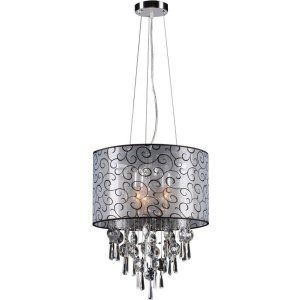 PLC Lighting PLC 73085 PC Alice 3 Light Pendant Alice Collection