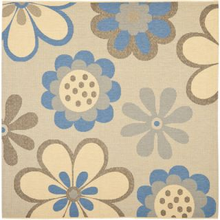 Safavieh Courtyard Natural Brown/Blue Rug CY4035B Rug Size Square 67