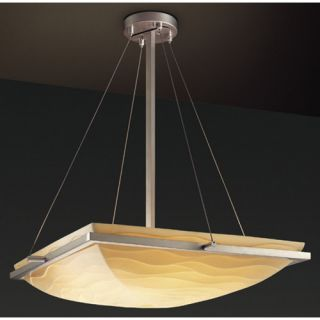 Justice Design Group Porcelina 3 Light Inverted Pendant PNA 9791 Metal Finish