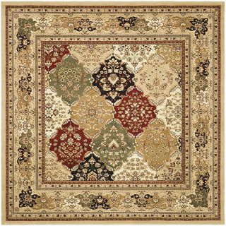 Lyndhurst Collection Multicolor/ Beige Rug (8 Square)