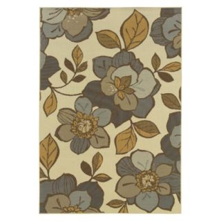 Alyse Floral Indoor/Outdoor Area Rug (53x76)