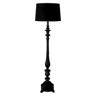 Threshold Double Socket Floor Lamp   Black (Includes CFL Bulbs)