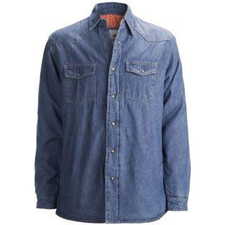 Dakota Grizzly Ponderosa Denim Shirt Jacket (For Men)   VINTAGE INDIGO (L )