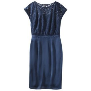 TEVOLIO Womens Lace Bodice Dress   Office Blue   4