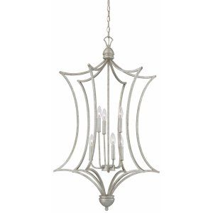 Thomas Lighting THO SL893772 Triton Chandelier Moonlight Silver 6x60