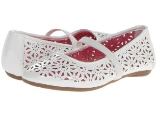 Kenneth Cole Reaction Kids May To Side 2 Girls Shoes (White)