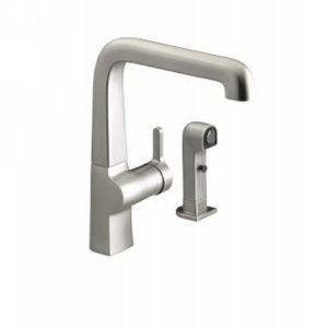 Kohler K 6334 VS Evoke Single Handle Kitchen Faucet with Sidespray