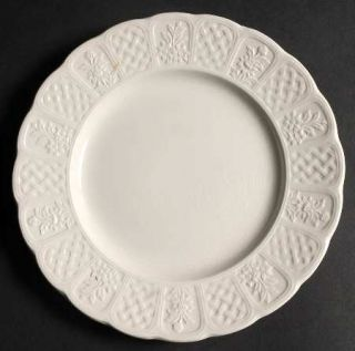 Royal Cauldon Bristol Garden Salad Plate, Fine China Dinnerware   White, Embosse