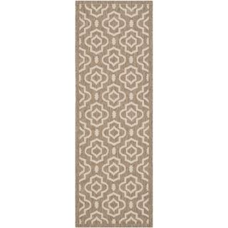 Safavieh Indoor/ Outdoor Courtyard Brown/ Bone Rectangular Rug (23 X 67)