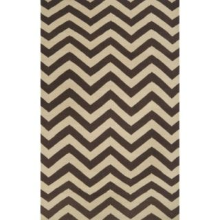 Chevron Flat Weave Area Rug   Brown (5x8)