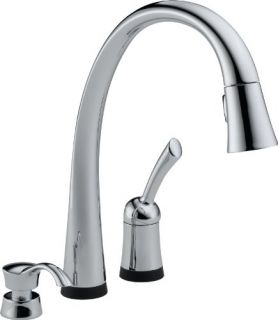 Delta 980TSDDST Pilar TouchActivated Single Handle PullOut Kitchen Faucet with Soap Dispenser Chrome