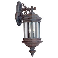 Sea Gull Lighting SEA 8840 08 Hill Gate Two Light Hill Gate Outdoor Wall Lantern