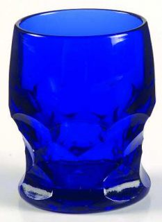 Fenton Georgian Cobalt Blue Whiskey Glass   Stem #1611,Honeycomb,Cobalt Blue