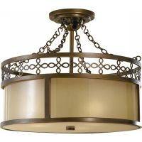 Feiss SF274ASTB Justine 3   Light Indoor Semi Flush Mount