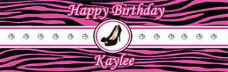 High Heels Personalized Vinyl Banner    30 x 82 Inches, Black, Red, White