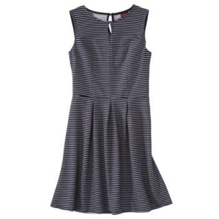 Merona Womens Textured Sleeveless Keyhole Neck Dress   Navy/White   XS