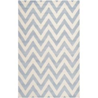 Safavieh Cambridge Light Blue / Ivory Rug CAM139A  Rug Size 5 x 8