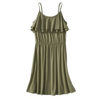 Mossimo Supply Co. Juniors Ruffle Front Dress   Tanglewood Green XS(1)