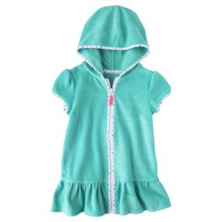 Circo Infant Toddler Girls Hooded Cover Up Dress   Turquoise 5T