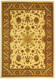 Lyndhurst Collection Ohsak Ivory/ Tan Rug (8 X 11)