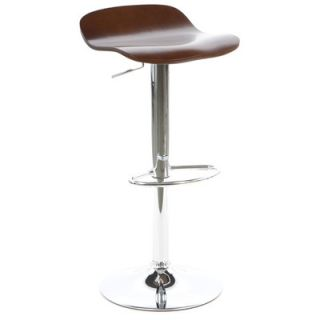 Winsome Kallie Air Lift Adjustable Bar Stool 93489 Finsih Cappuccino
