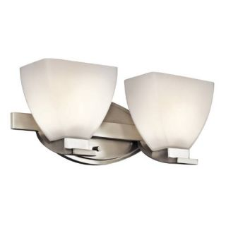 Kichler 45114NI Bathroom Light, Transitional Bath 2Light Fixture Brushed Nickel