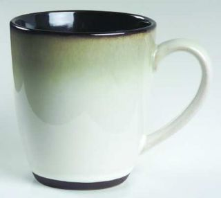Muirfield Royal Ebony Mug, Fine China Dinnerware   Black Band, Gold Line & Verge