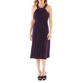Jessica Howard Sleeveless Beaded Dress, Eggplant
