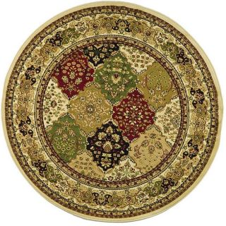 Lyndhurst Collection Multicolor/ Ivory Rug (53 Round)