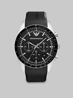 Emporio Armani Stainless Steel Chronograph Watch   No Color