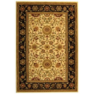 Lyndhurst Collection Majestic Ivory/ Black Rug (9 X 12)