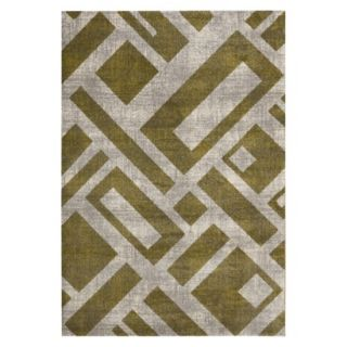 Safavieh Geometric Blocks Area Rug   Green/Ivory (67x96)