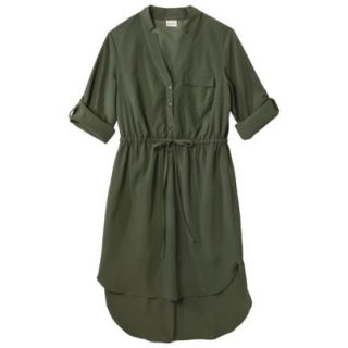 Merona Womens Drawstring Shirt Dress   Moss   S
