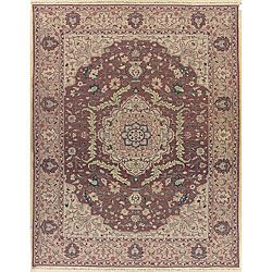 Nourison Hand woven Millennia Rose Rug (810 X 1110) (beigePattern orientalMeasures 1/4 inch thickTip We recommend the use of a non skid pad to keep the rug in place on smooth surfaces.All rug sizes are approximate. Due to the difference of monitor color