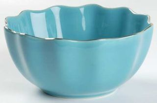 Lenox China Gwinnett Lane Turquoise 5 All Purpose (Cereal) Bowl, Fine China Din