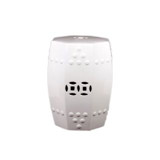 Urban Trends Collection 18 inch White Ceramic Stool (CeramicDimensions 18 inches high x 13 inches in diameter Model UTC30905UPC 877101309055For decorative purposes onlyDoes not hold water)