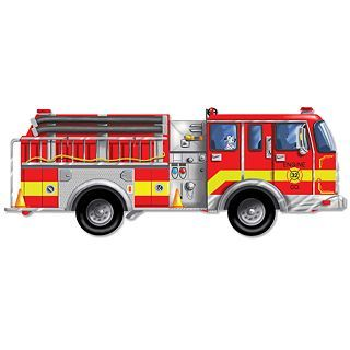 Melissa & Doug 24 pc. Truck Floor Puzzle, Fire Truck